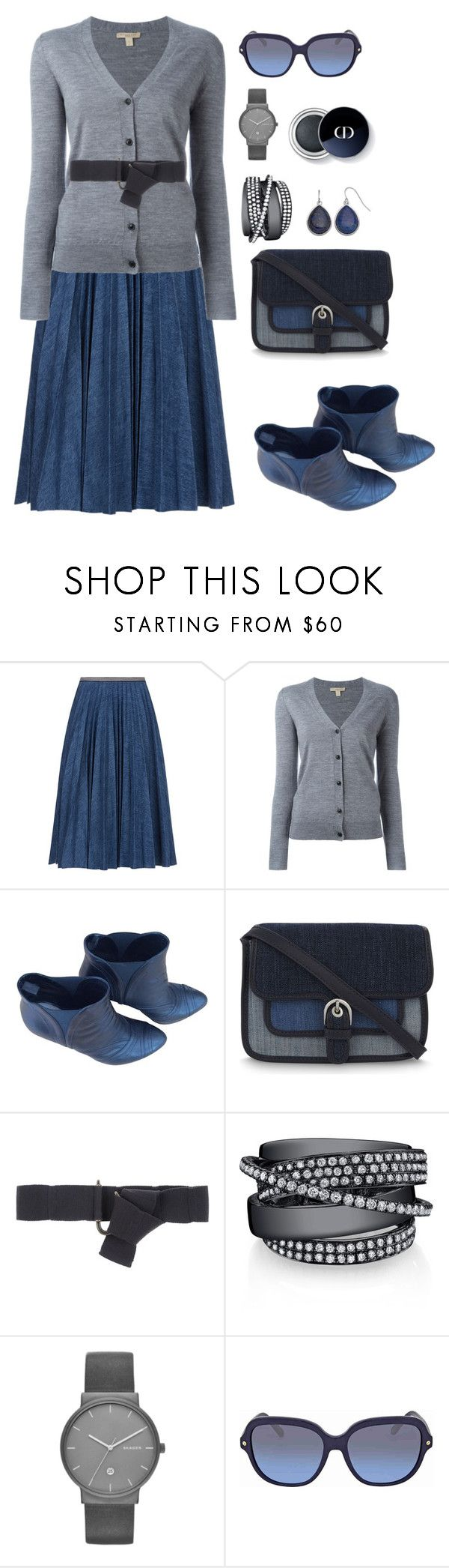 """""""Untitled #1959"""" by ebramos ❤ liked on Polyvore featuring Leur Logette, Burberry, Prada, MICHAEL Michael Kors, BP Studio, Skagen, Coach and Chaps"""