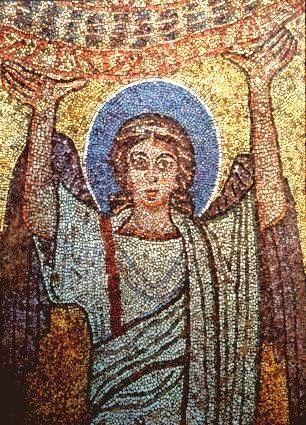 Basilica Santa Prassede, Roma. Cappella di San Zenone. I mosaici nello stile bizantino. 817-826. Il periodo dei Carolingi
