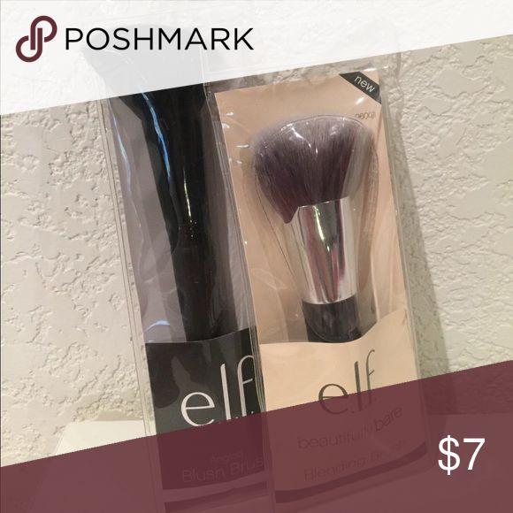 New elf angled blush brush and blending brush ELF blush brush and blending brush.  New in package. ELF Makeup Brushes & Tools