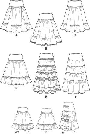 vintage broomstick skirt pattern | Flickr - Photo Sharing!