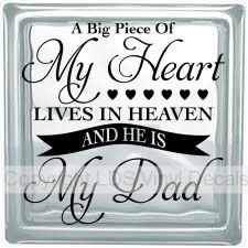A Big Piece Of My Heart LIVES IN HEAVEN AND HE IS My Dad