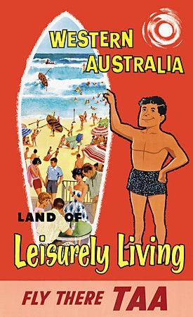 TAA Western Australia Travel Poster.