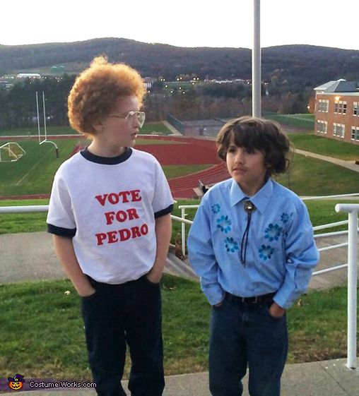 Carla: My son and daughter are constantly quoting the movie Napoleon Dynamite. He is a quirky little guy, and she is a tough tomboy. They dressed as Napoleon and Pedro, and...