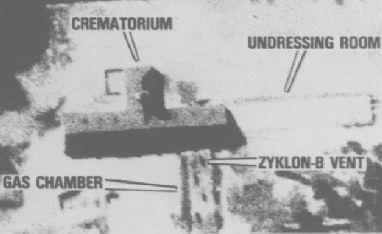 Krematoria - letecký snímek Osvětimi!!