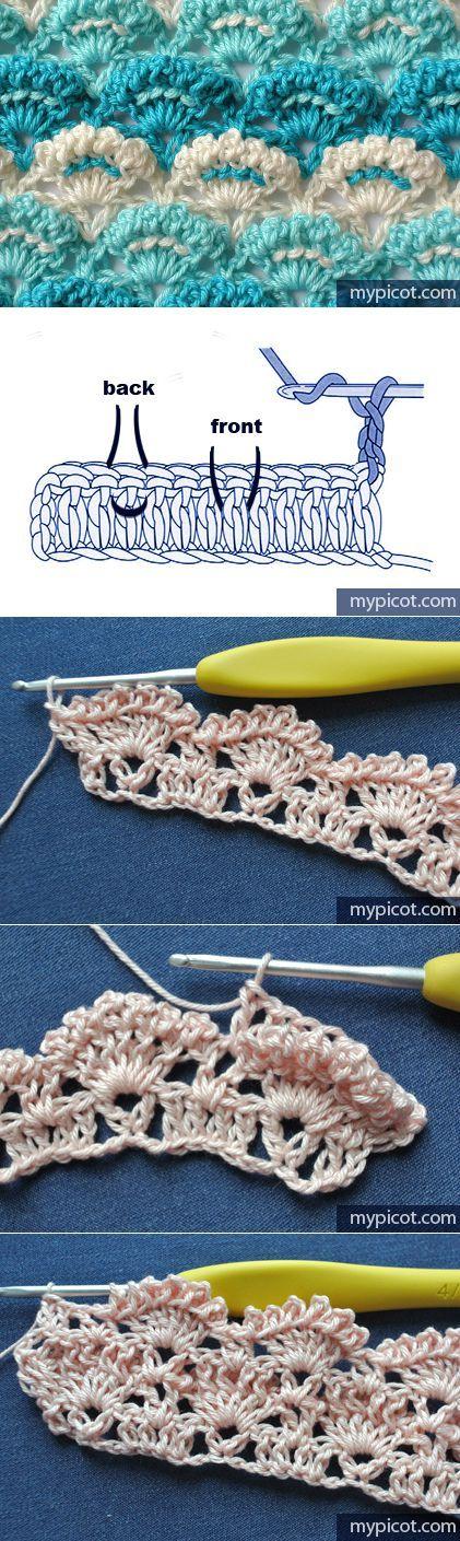 Stitch.  Looks a little like Catherns wheel.  MyPicot /Crochet patterns...♥ Deniz ♥