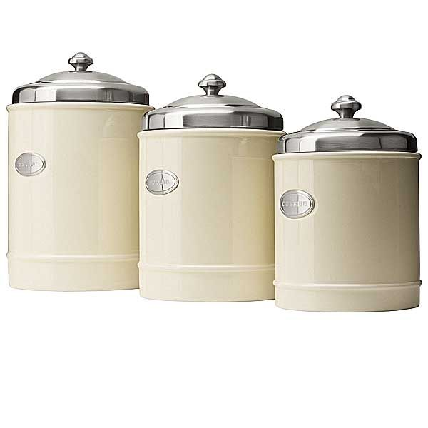 Capriware Kitchen Canisters - Ceramic, Stainless Steel