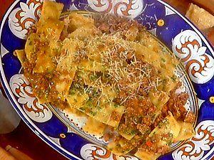 "Caramele Ripiene di Patate al Ragu--  Pasta ""candies"" stuffed with potato and mortadella with ragu sauce."