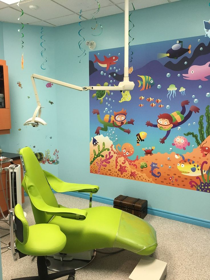 The Mural Gives This Dental Office A Fun A Kid Friendly