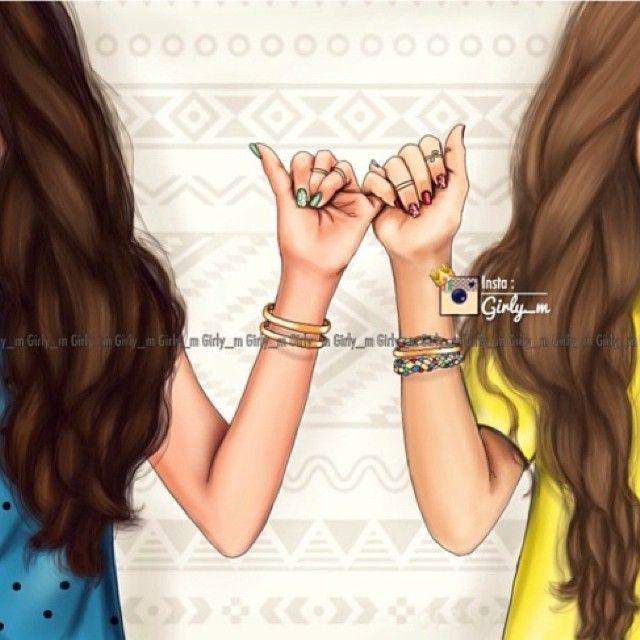 Girly M Cartoons Best Friend Drawings Bff Drawings Drawings Of