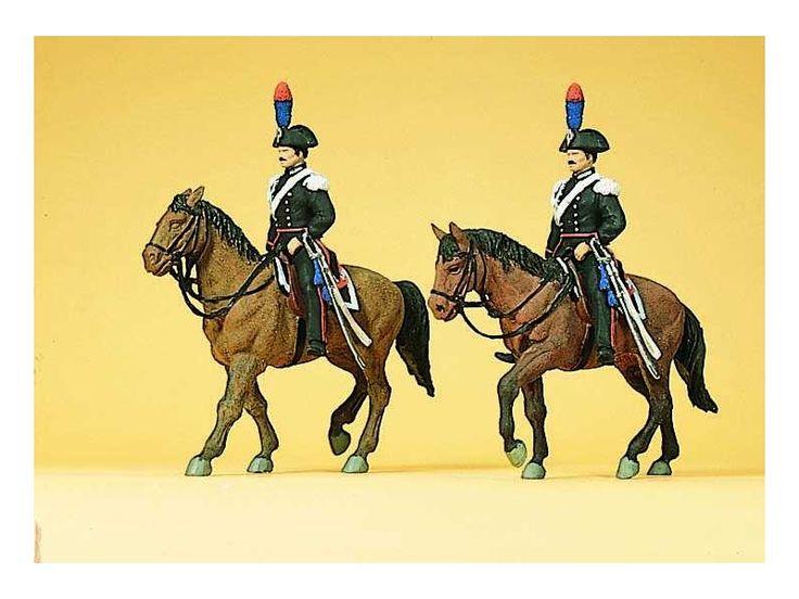 Preiser 10398 - Carabinieri a cavallo  scala h0 modellismo ferroviario plastico del treno