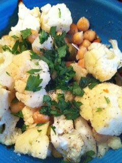 Roasted Cauliflower, Chickpeas, and Olives, weight watchers inspired ...