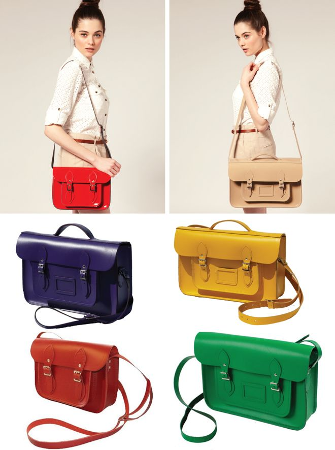 Cambridge Satchel Company. I really, really want one of these in green or fluoro pink!