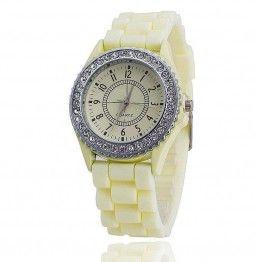Vansvar Brand Silicone Watch Women Rhinestone Watches Fashion Casual Quartz Watch Sport watch Relogio Feminino BWSB02