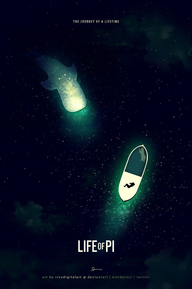 Beautiful poster design for Life of Pi   The contrast is stunning   Digital art selected for the Daily Inspiration #1604