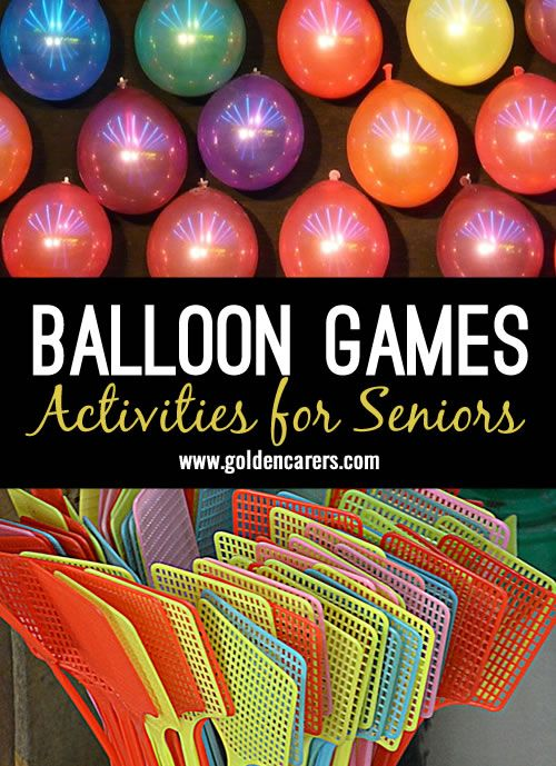 Gentle exercise for the arms as well as an opportunity to socialize! Great for game for the elderly. Also suitable for people living with dementia.