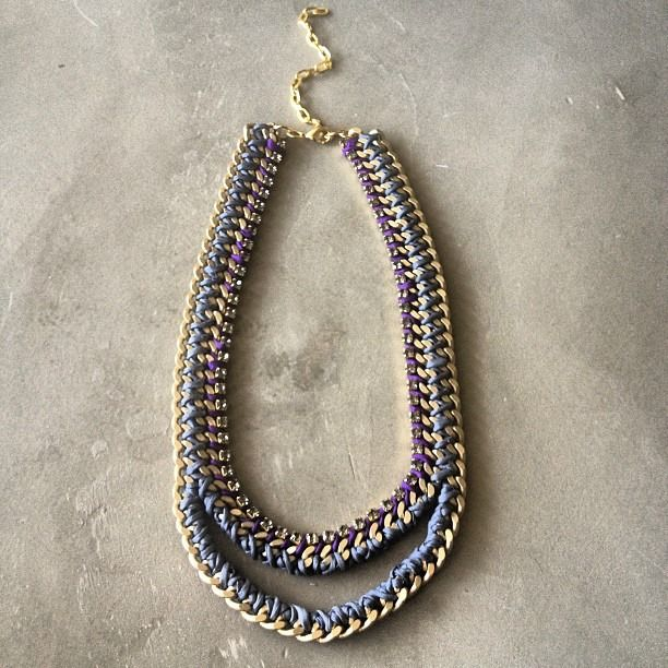 """""""The Royal Mouth necklace in grey and purple by Hermina wristwear"""