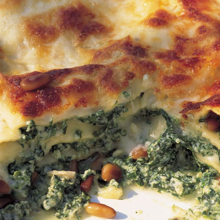 Delia Smith created this delicious vegetarian lasagne recipe which is a hit even with spinach haters