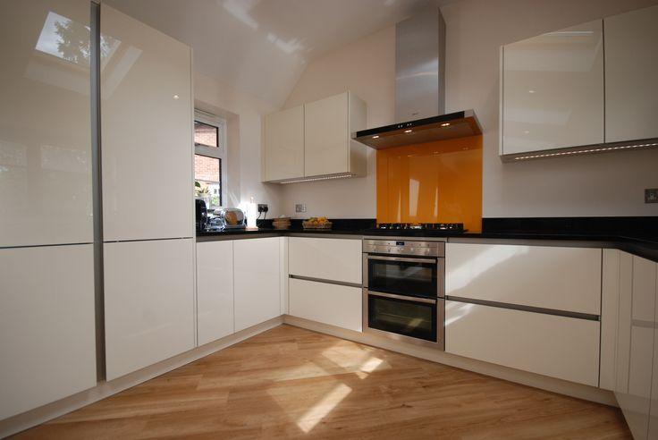 Saffron Interiors #granite #cream # gloss # kitchen # saffron # glass
