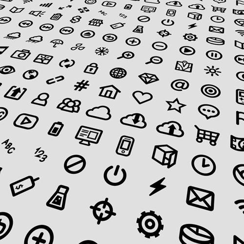 Small Icons Vector Design Set ( Illustrator)
