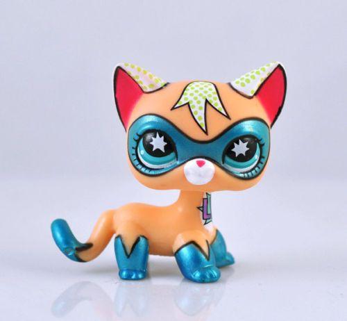 Comic-con cat Littlest Pet Shop Super Hero Child Girl Figure Cat Toy Loose RARE Xmas Gift | eBay