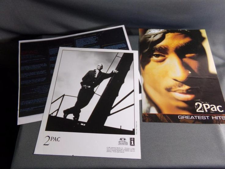 "2 Pac, ""Greatest Hits"" Promotional Brochure and Promotional Photograph, 2Pac"