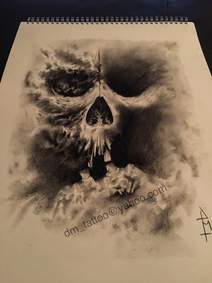Skull drawing #draw #artist #tattooartist #pencil