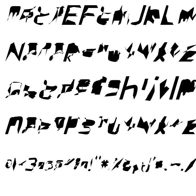 bitstorm extracondensed oblique Font