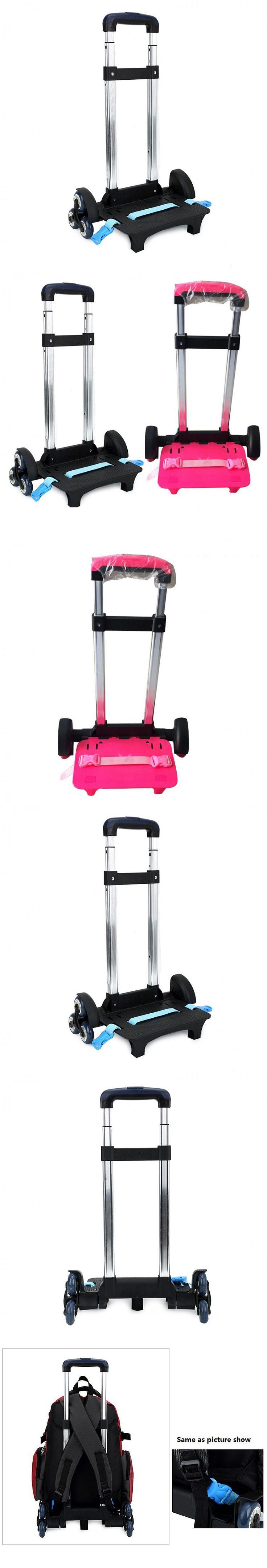 3 Wheel Fold Pull Rod Bracket Roll Cart Trolley School Bags easy climb the stairs,mochila infantil rodinha mochilas school kids