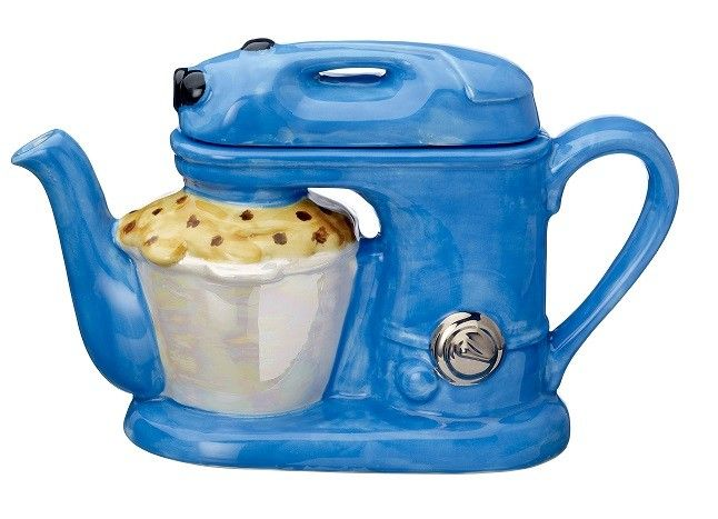 Blue Food Mixer Teapot (Large) by Carters of Suffolk
