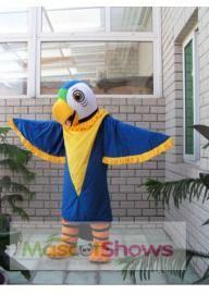 Costume de Mascotte de perroquet bleu
