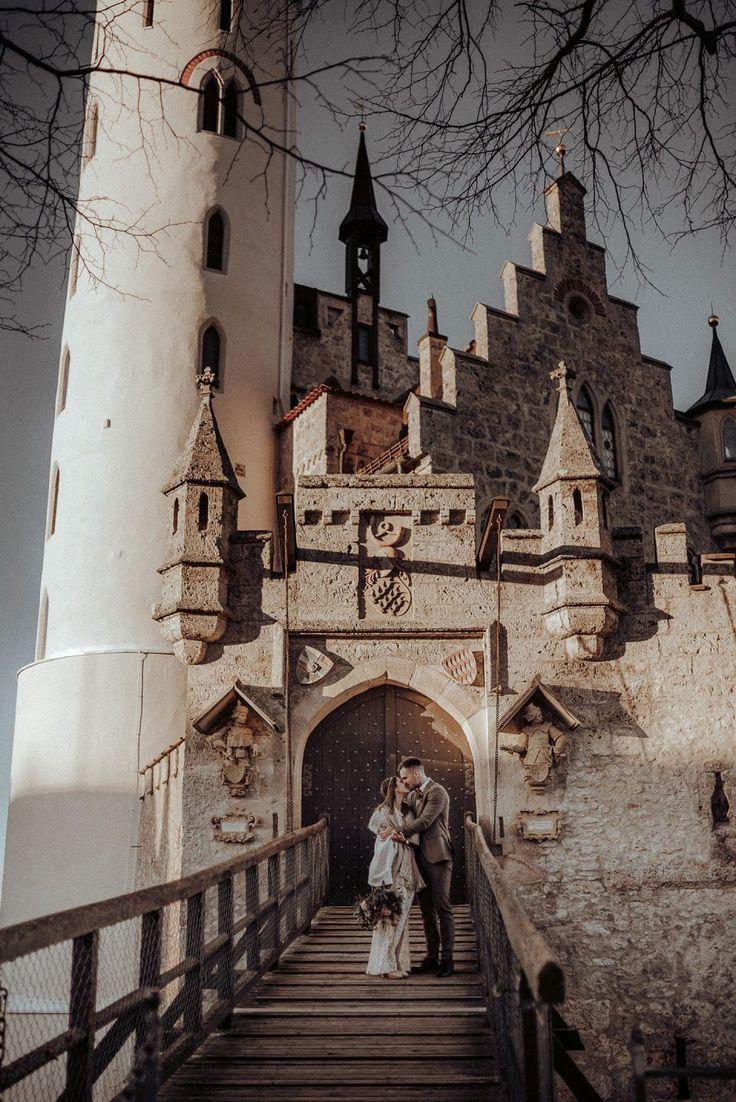 Schloss Liechtenstein Winterhochzeit Im Boho Stil Fotografie Koko Photography