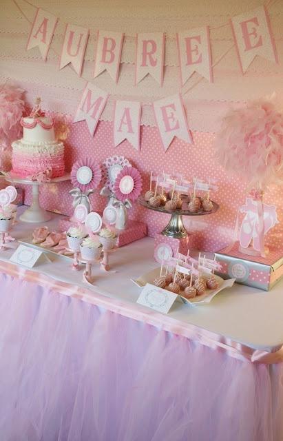 Ballerina Baby Shower Dessert Table