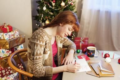 How to choose and send business Christmas cards, including what kinds of cards to send and how to properly address business Christmas cards.