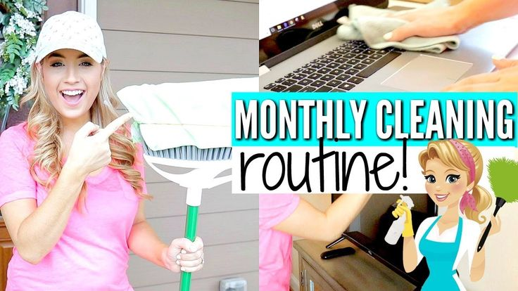 MY MONTHLY CLEANING ROUTINE   SPEED CLEAN WITH ME 2018   Love Meg