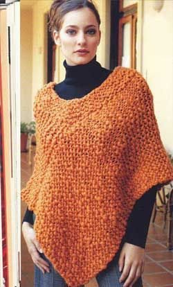 iKnitts: Patron para tejer un poncho fácil, con dos rectángulos. Bien sencillo para las que no hace mucho empezamos! Easy pattern to knitt