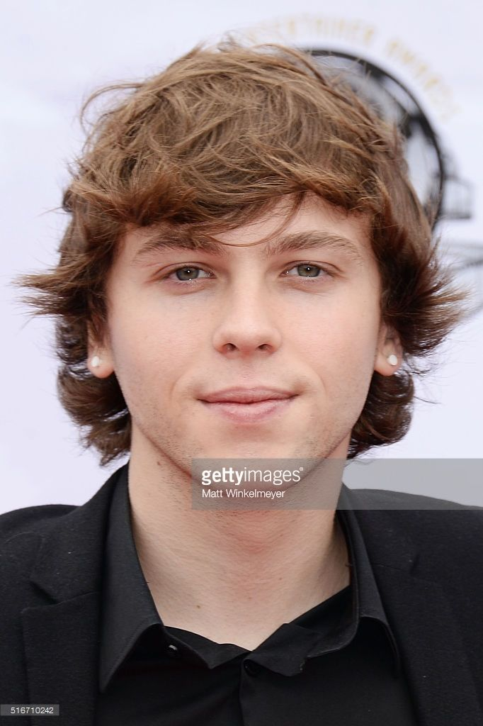 Keaton Stromberg of Emblem3 arrives at the 1st annual Young Entertainer Awards at The Globe Theatre at Universal Studios on March 20, 2016 in Universal City, California.