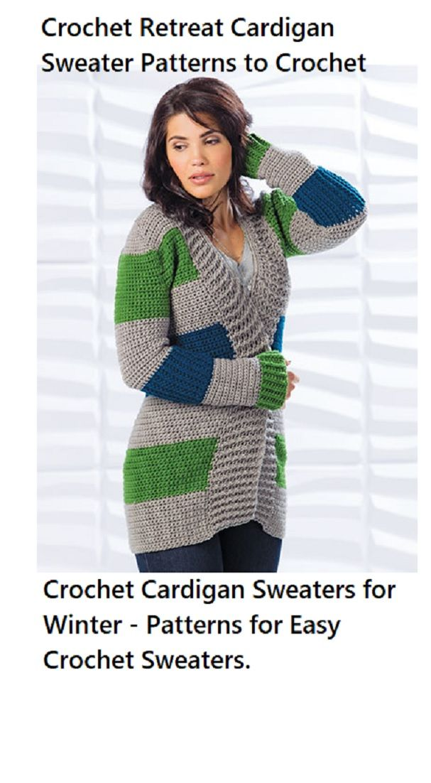 Crochê o padrão de crochê Retiro Cardigan para clima mais fresco