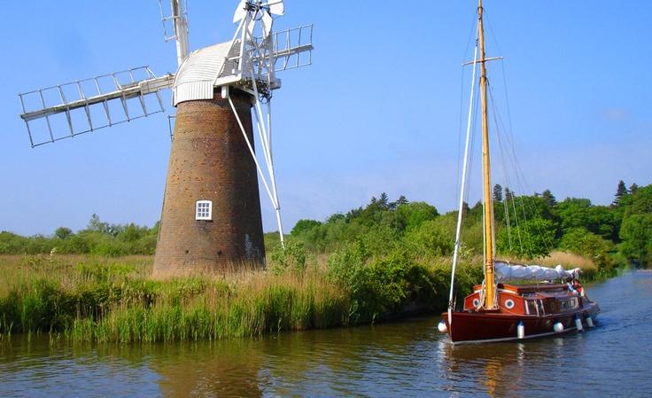 Norfolk broads in Summer
