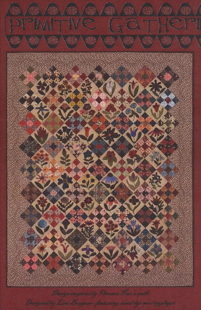 Primitive Folk Art Wool Applique Quilt Pattern Lisas