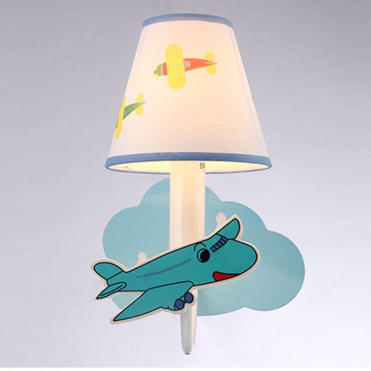 Cartoon Plane LED Wall Lamp Boy Girl House House Loft Bedroom Lighting Decoration Bedside Lamp Reading Learning Night Light #Affiliate
