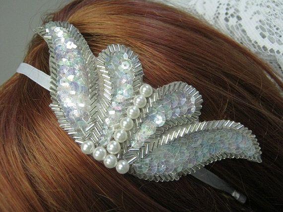 Great Gatsby Wedding Headband by bridesstudio on Etsy, $20.00