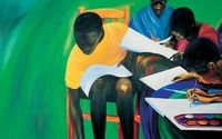 Children Painting from Making Sense A Rwandan Story