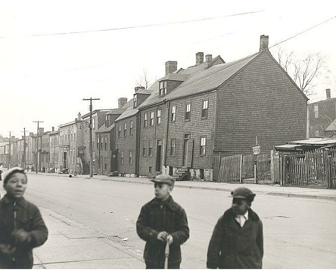Scene on Creighton Street, #Halifax, #NovaScotia, ca. 1953.