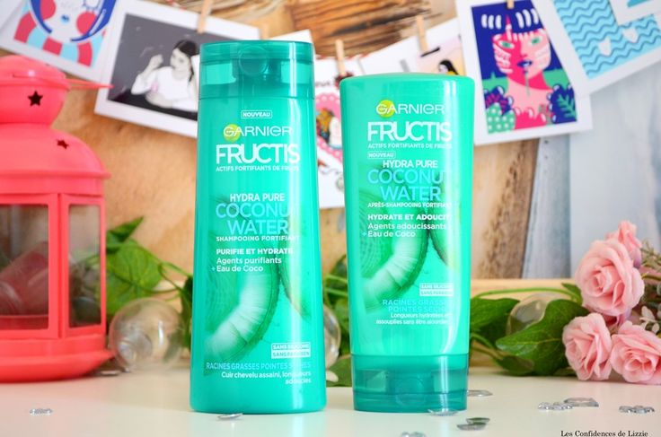 Duo capillaire purifiant et hydratant, la gamme Hydra Pure Coconut Water de Fructis #skincare #hair