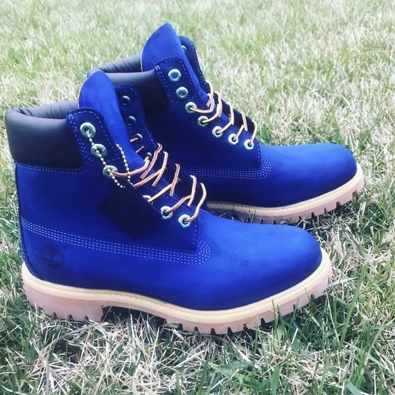 Timberland 6 Inch Premium Little Kid/'s Boots Blue tb0a1jne