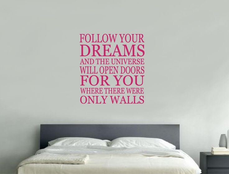 Follow Your Dreams Wall Sticker | Inspirational Wall Quotes Part 71