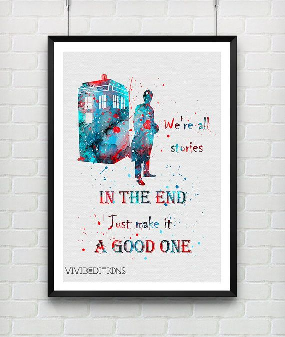 Quote From Tardis Doctor Who Print, Baby Boy Nursery Art