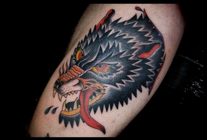 american traditional wolf tattoo - Google Search | Tattoos ...