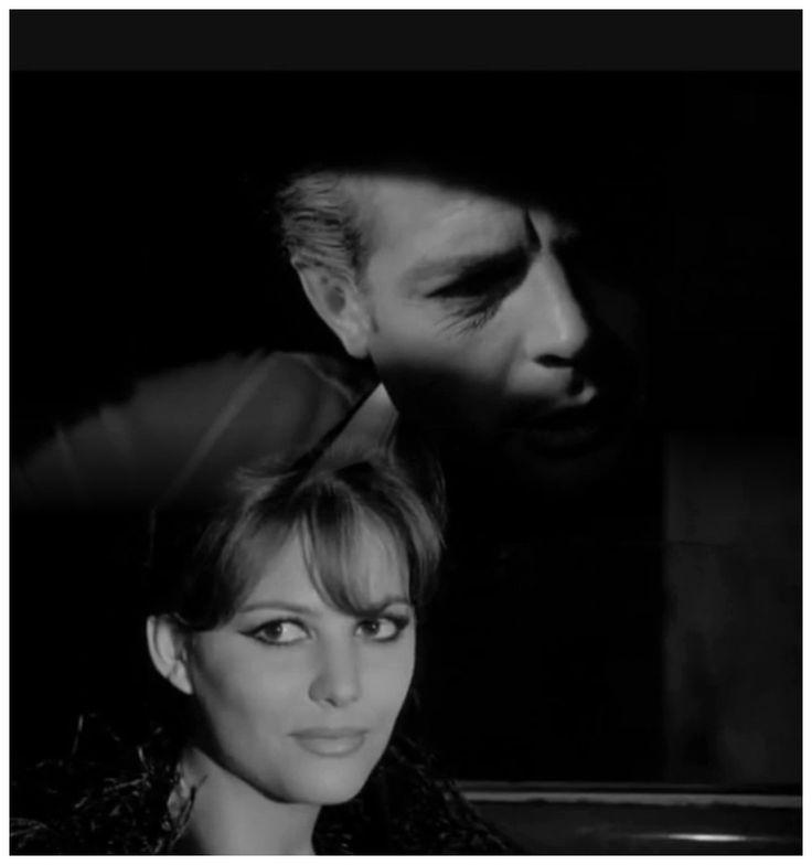 """Marcello Mastroianni and Claudia Cardinale - publicity portrait from the 1963 film """"Fellini's 8½"""""""