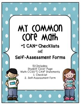 """Low intensity interventions:  """"I CAN"""" checklists that meet common core standards! CCSS Math """"I Can"""" Statements - Student Friendly Checklists"""